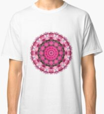 Beautiful pink Blossoms 001, Nature Mandala Classic T-Shirt