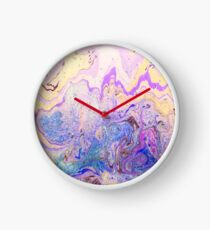 Gorgeous vibrant marbling ink pattern design for decorative and ornamental prints as wall art, on textiles, clothing, and on many other items Clock