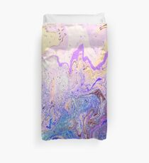 Gorgeous vibrant marbling ink pattern design for decorative and ornamental prints as wall art, on textiles, clothing, and on many other items Duvet Cover