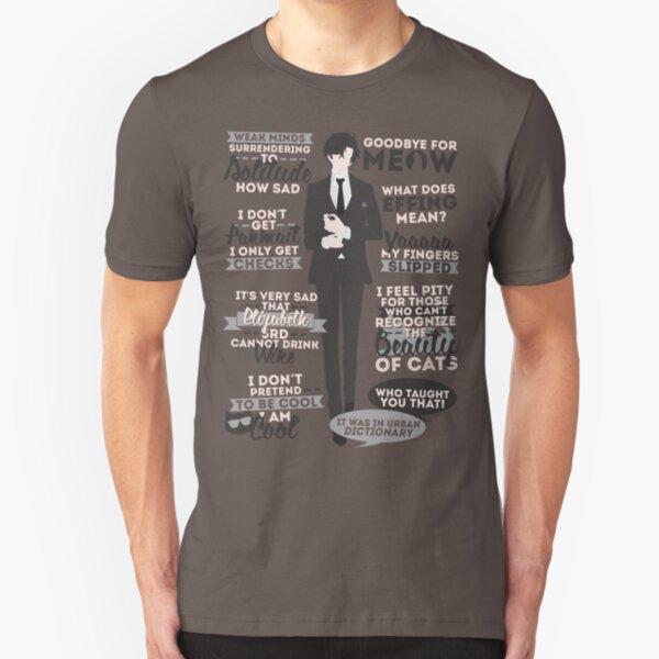 Cat Addict Quotes Slim Fit T-Shirt