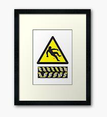 Caution: Arrows Framed Print