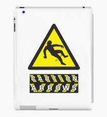 Caution: Arrows iPad Case/Skin
