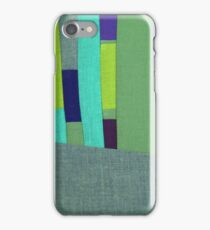 Green and Purple Fabric Art iPhone Case/Skin