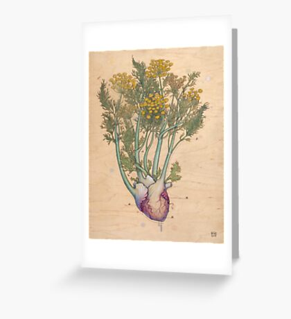 Fennel Heart Greeting Card