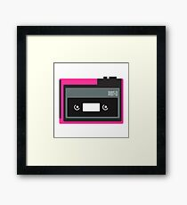 80s Portable Audio Tape Player Framed Print