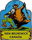 New Brunswick Canada Vintage Travel Decal by hilda74
