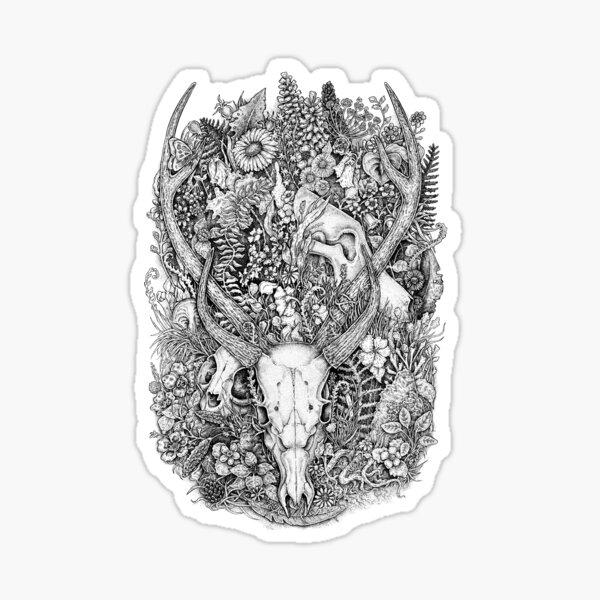 Life's Mystery: Hunter and Prey Sticker