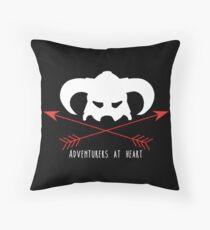Adventurers at heart Throw Pillow