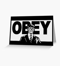 OBEY - THEY LIVE - ZOMBIE - CONSUME - SHIRT Greeting Card