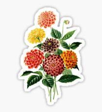 Colorful Botanical Floral Bouquet Sticker