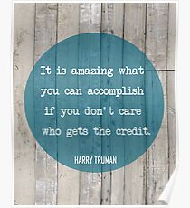 Harry Truman - Who gets the credit? Poster