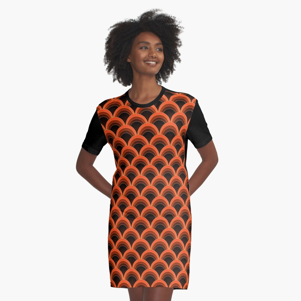 Japanese Waves Ornament 1 Graphic T-Shirt Dress