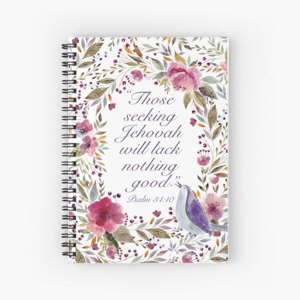Yeartext 2022 (Bird and Flowers) Spiral Notebook