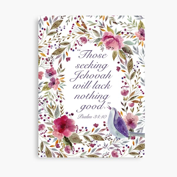 Yeartext 2022 (Bird and Flowers) Canvas Print
