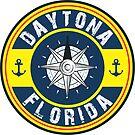 DAYTONA FLORIDA NAUTICAL COMPASS ANCHOR BEACH OCEAN ROUND by MyHandmadeSigns