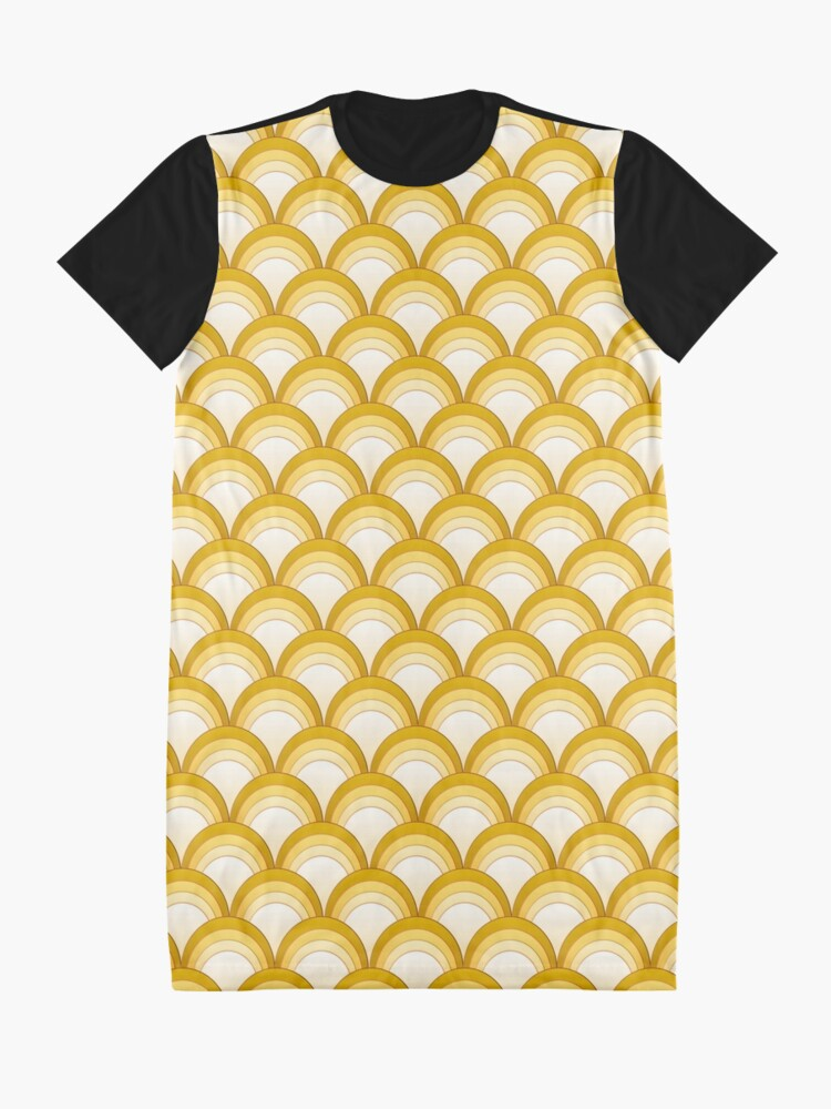 Alternate view of Japanese Waves Ornament 3 Graphic T-Shirt Dress