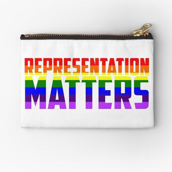 Representation Matters Rainbow Flag   LGBT+ Zipper Pouch