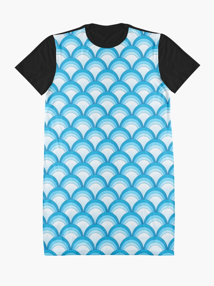 Alternate view of Japanese Waves Ornament 4 Graphic T-Shirt Dress