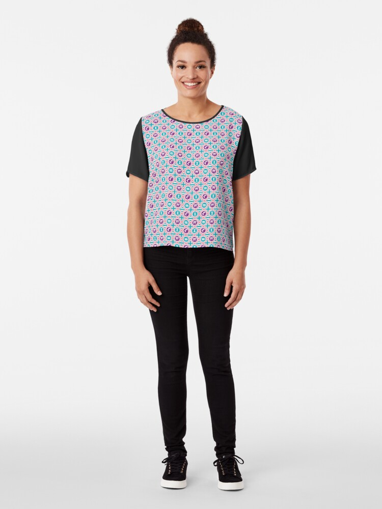 Alternate view of Totally Math! Chiffon Top
