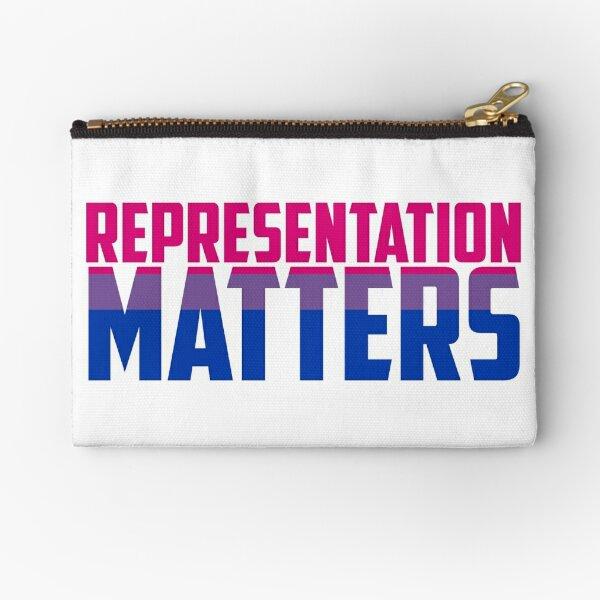 Representation Matters Bisexual Flag   LGBT+ Zipper Pouch