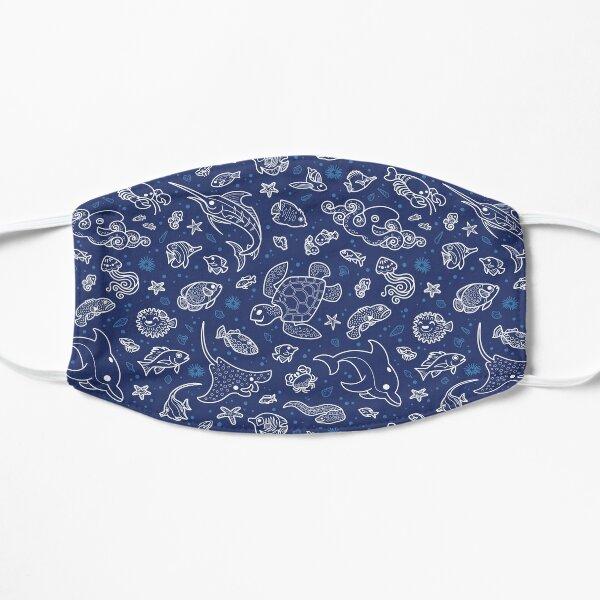 Aquatic Outline Pattern Flat Mask