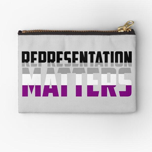 Representation Matters Asexual Flag   LGBT+ Zipper Pouch