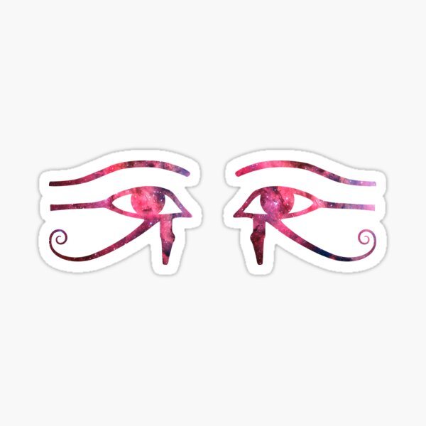 Eye of Horus || The Red Eyes of God ||  || Egyptian Stickers || Egyptian Stickers Sticker
