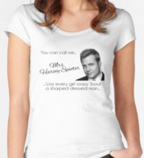 Harvey Specter - that's Mrs Harvey Specter to you Fitted Scoop T-Shirt
