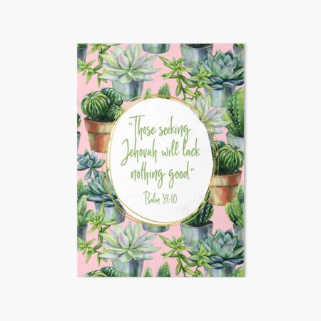 Yeartext 2022 (Cactus and Succulents) Art Board Print