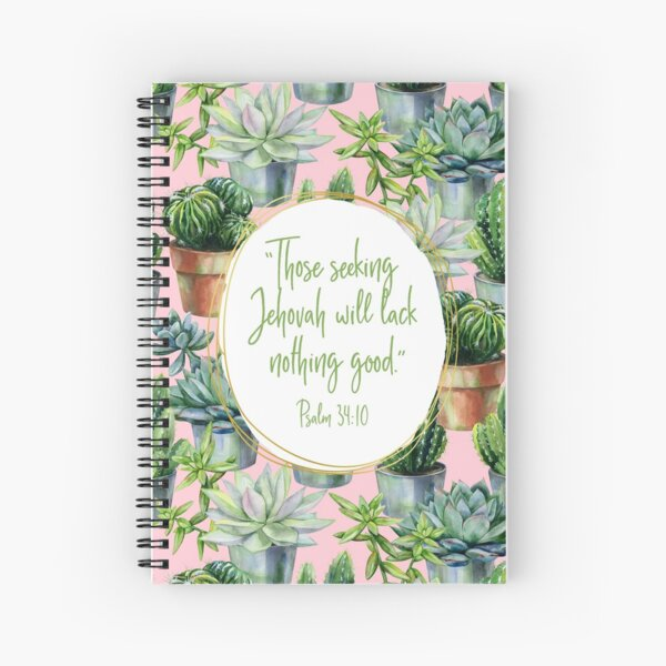 Yeartext 2022 (Cactus and Succulents) Spiral Notebook