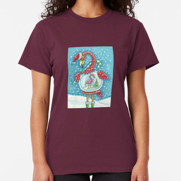 FLAMINGO WHITE CHRISTMAS Classic T-Shirt