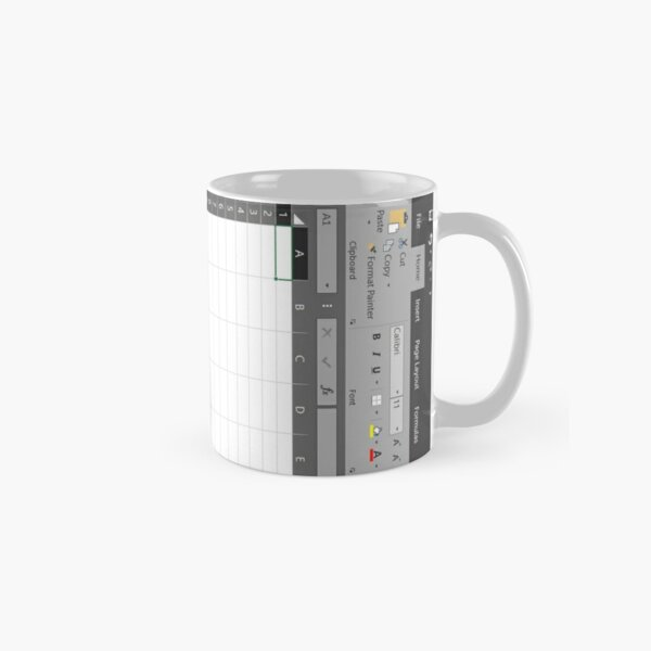 Excel Spreadsheet Classic Mug