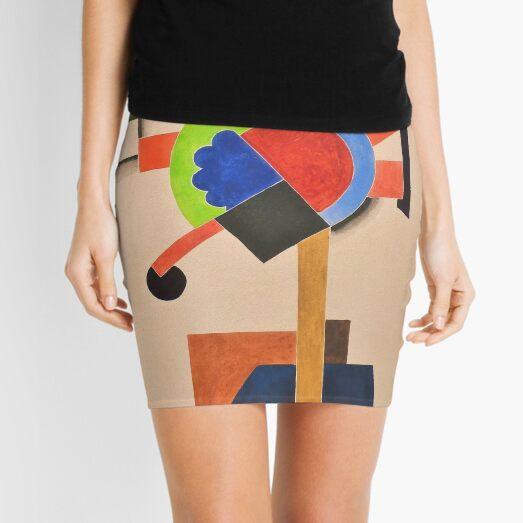 Composition cubiste Auguste Herbin Mini Skirt