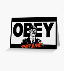 OBEY - THEY LIVE - SHIRT - HOODIE AND MORE Greeting Card