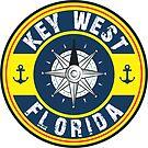KEY WEST FLORIDA NAUTICAL COMPASS ANCHOR BEACH OCEAN ROUND by MyHandmadeSigns