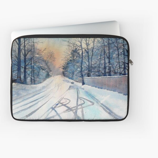 Layby in the Snow Laptop Sleeve