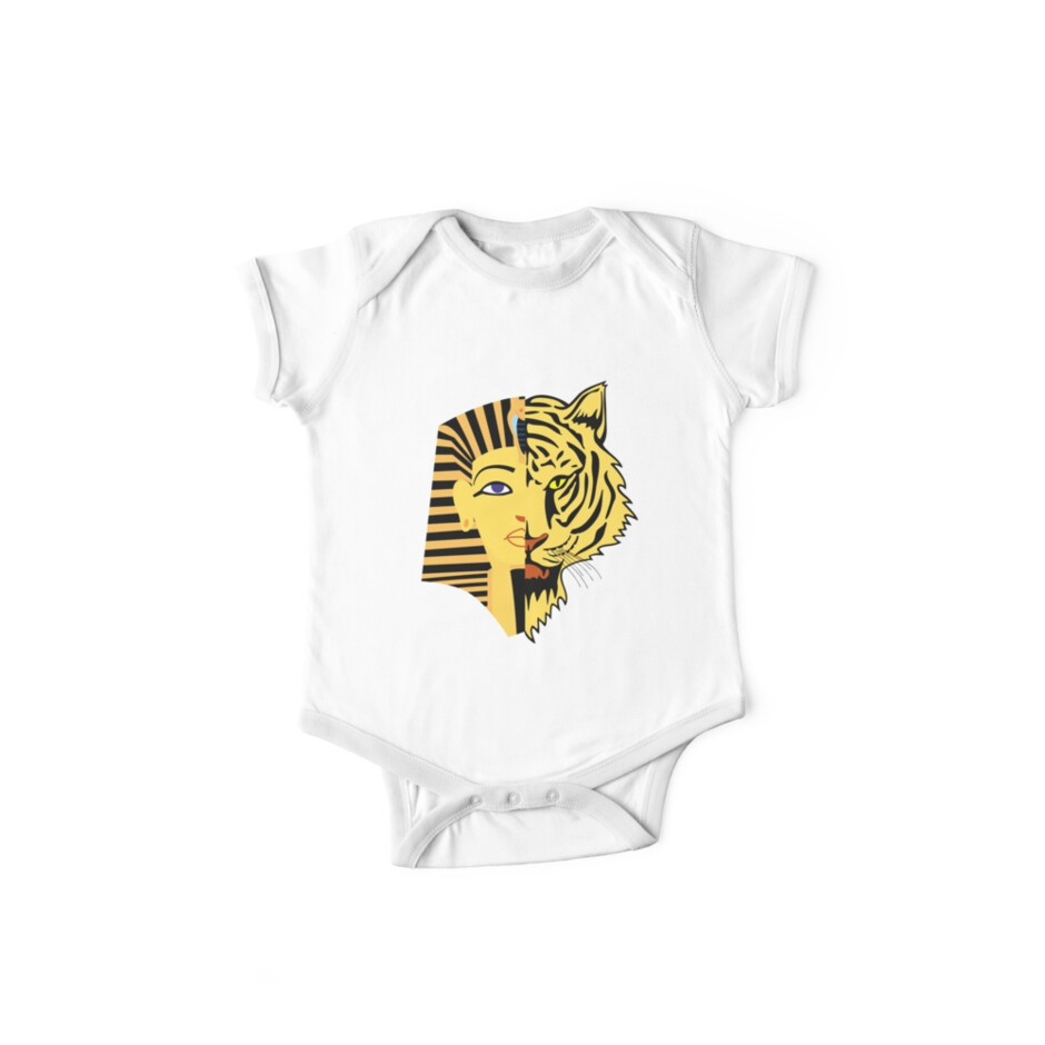 'Egyptian Pharaoh and Tiger T-Shirt: Ancient Egypt' Kids Clothes by Essetino