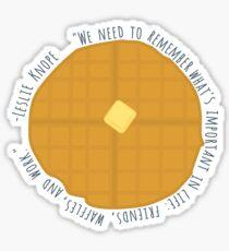 Leslie Knope Waffle Sticker