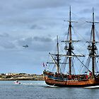 The Endeavour & The FA18 - Newcastle NSW Australia by Phil Woodman