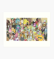 Rick and Morty Total Rickall Art Print