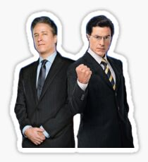 Jon Stewart - Stephen Colbert - The Daily Show - The Colbert Report Sticker