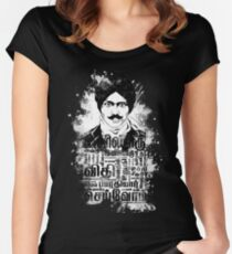 Mustache | Bharati Tamil Women's Fitted Scoop T-Shirt