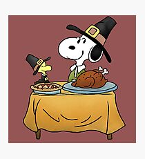 Snoopy Thanksgiving Photographic Print