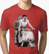 Roman Holiday - Gregory Peck - Audrey Hepburn Tri-blend T-Shirt