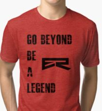 Camiseta de tejido mixto Gym Motivation Quote Beyond Legend