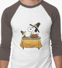 Snoopy Thanksgiving Men's Baseball ¾ T-Shirt