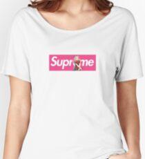 Sakura Naruto x Supreme Parody Collab Small Box Logo Pink Women's Relaxed Fit T-Shirt