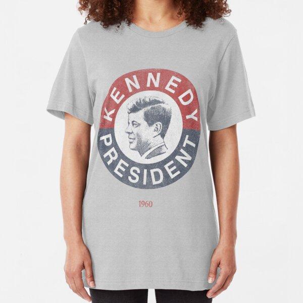 Vintage 1960 Kennedy for President T-Shirt Slim Fit T-Shirt