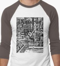 Danseur - Spike Black 'n White Men's Baseball ¾ T-Shirt
