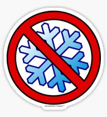 No Special Snowflakes - Red No Circle Symbol Sticker